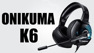 ONIKUMA K6 PC Gaming Headset with Stereo Surround Sound, Noise-Canceling Microphone - UNBOXING 2018