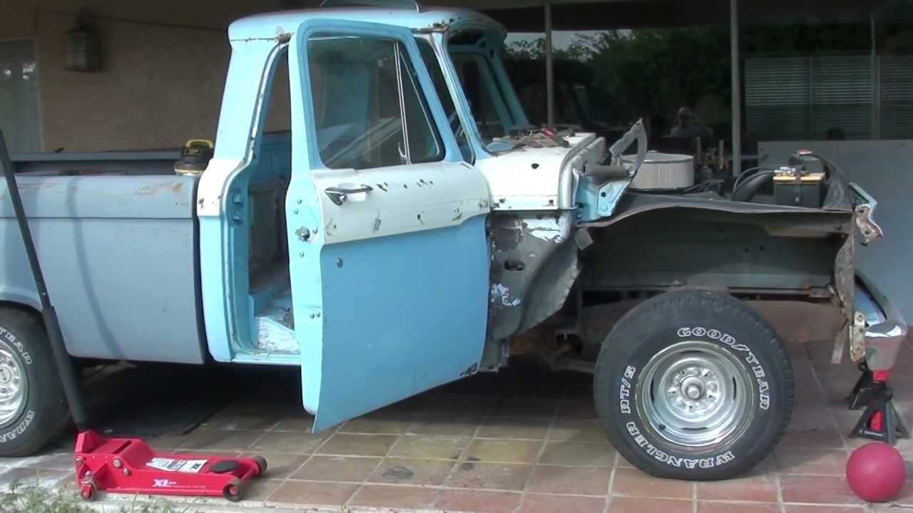 1965 Ford F100 Restoration Part 6 Youtube 1955 Side Mirrors