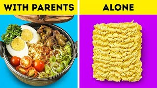 LIVING WITH PARENTS VS ALONE