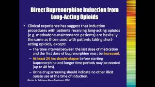 Buprenorphine Treatment A Training for Multidisciplinary Addiction Professionals Part2