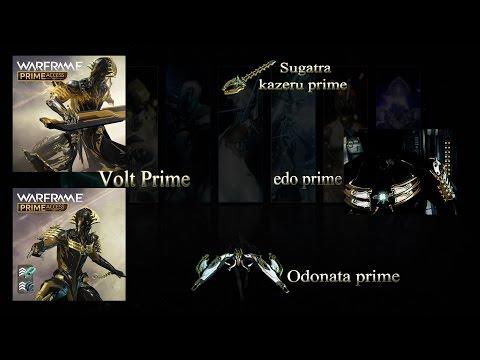 Warframe Prime Access : Présentation Volt Prime , Odonata prime