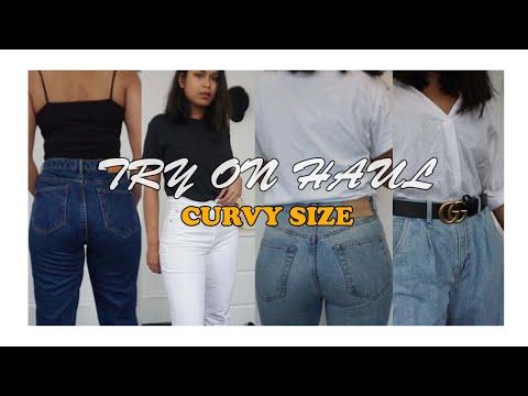 แต่งตัว แต่งตัวสาว อวบ ขาใหญ่ สะโพกใหญ่ ใส่กางเกงยีนแบบไหนดี I Try on haul curvy size (Ep.2)