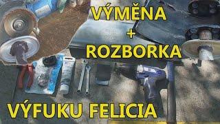 Výměna děravého výfuku   Výměnář dílů!   Škoda Felicia 1.6