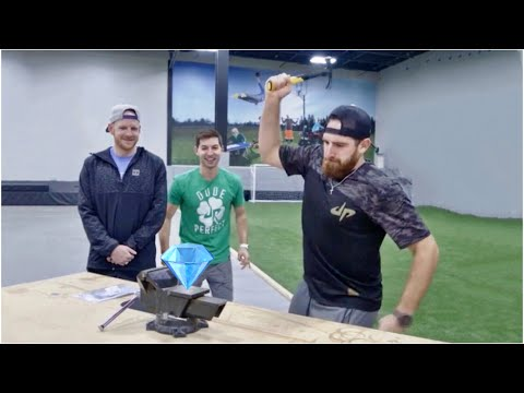 Will a hammer crush a diamond? | Dude Perfect