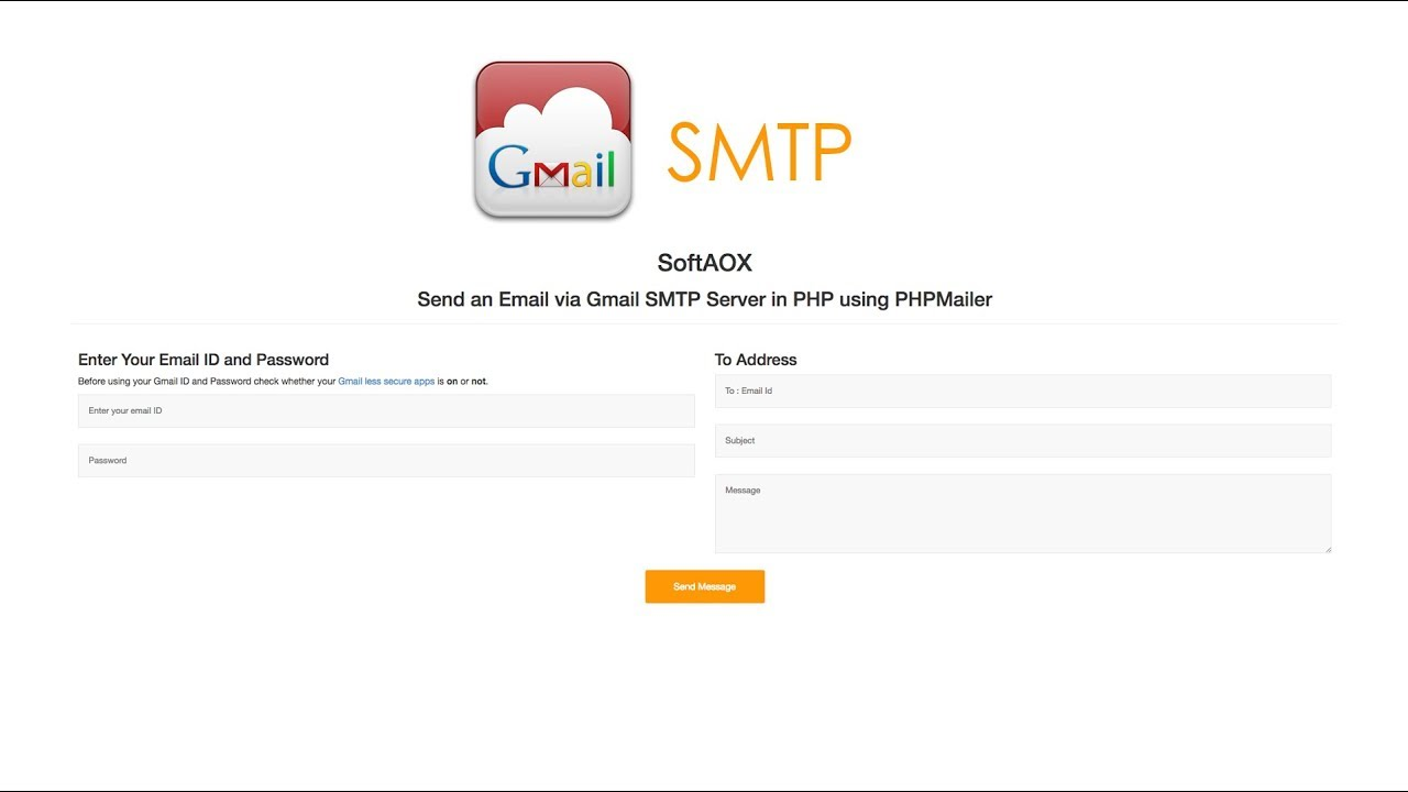 Send an Email via Gmail SMTP Server in PHP using PHPMailer
