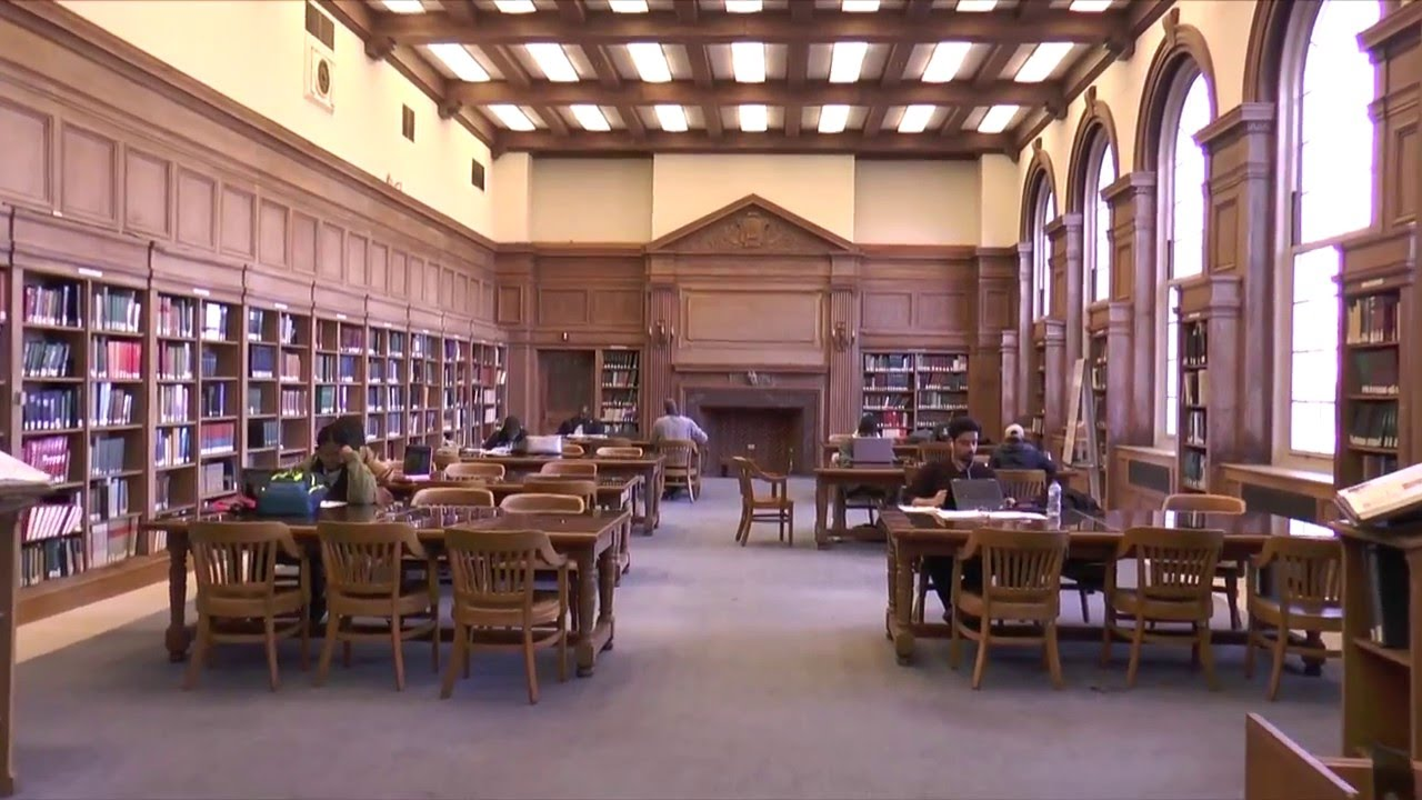 Inside one of the study spaces at Howard