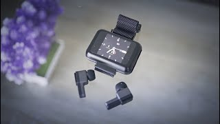 T91 Smartwatch with Built in TWS Earbuds! Unboxing/Hands on Review! Fake heart rate sensor?