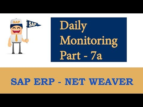 ERP SAP Basis - Net Weaver | AS ABAP Daily Monitoring - Part 7 a |