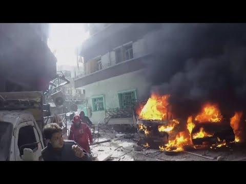 Syrian White Helmets Film Ghouta Destruction