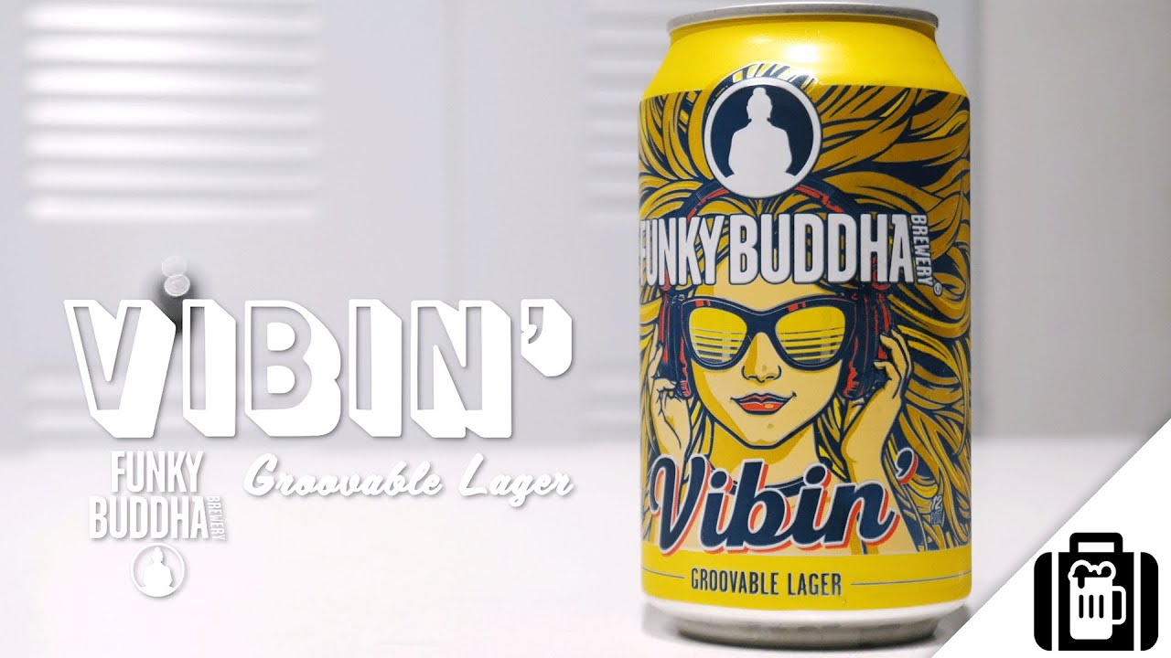 Funky Buddha Brewery Vibin/' Groovable Lager Tin Tacker
