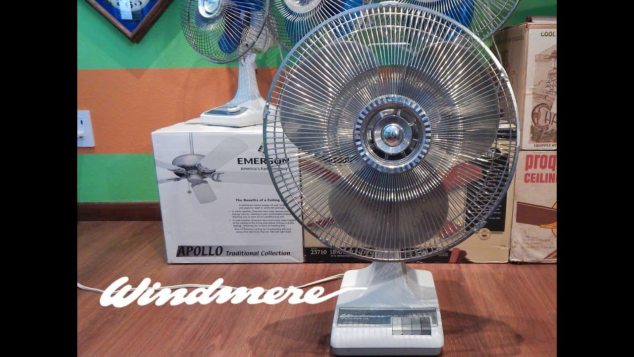 Windmere 7 Oscillating Fan : Windmere quot oscillating fan youtube