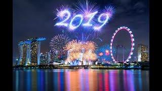 2019 Fireworks Show Singapore Happy New Year 2019 Float Marina Bay