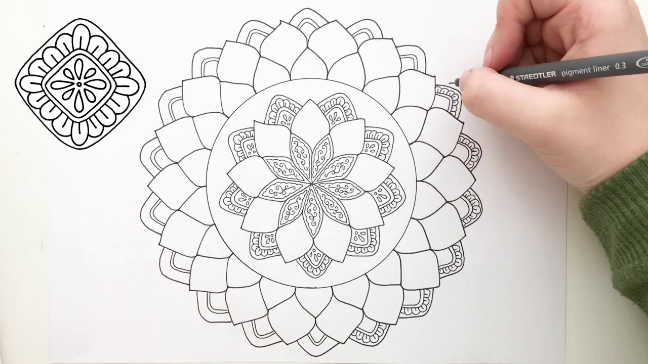 How To Draw A Mandala Tutorial By Jess Melaragni Youtube