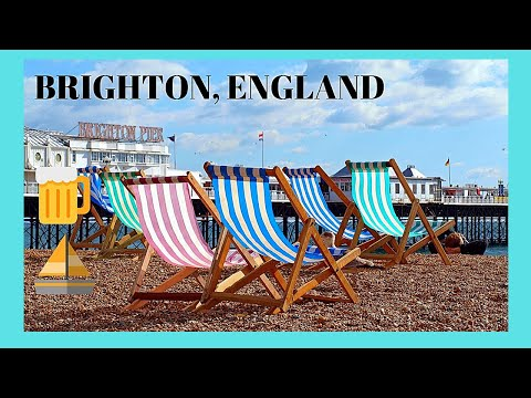 BRIGHTON, a walking tour of this beautiful, sunny town in ENGLAND