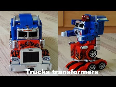 Thumbnail: Transformers Toy Truck Transformation Robot Car Transformer Optimus prime Toy transformation car