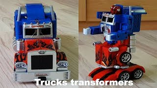 TRANSFORMERS TOY TRUCK TRANSFOMATION ROBOT CAR TRANSFORMER OPTIMUS PRIME TOY TRANSFORMATION CAR