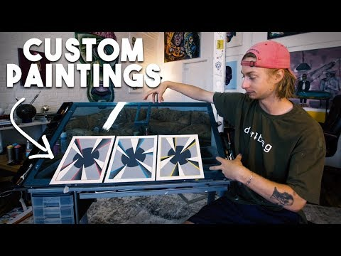 How To Make EASY CUSTOM Paintings To SELL!