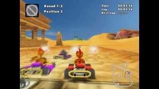 Crazy Chicken Fun Kart 2008 (PS2 Gameplay)