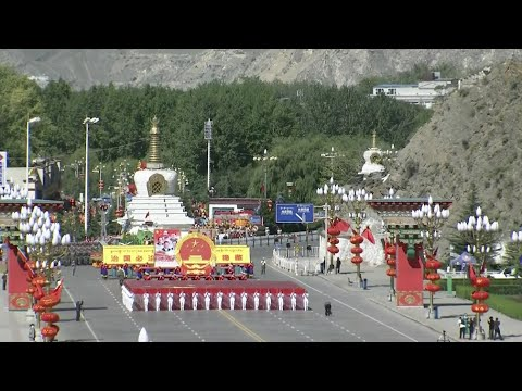 Formations Parade in Lhasa to Mark 50th Founding Anniversary