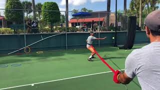 High performance tennis training with Coach Dabul in Miami. Players from 9 to 13 y/o