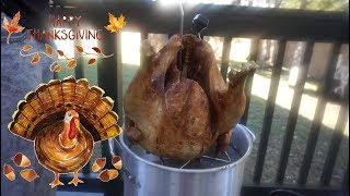 How To Brine & Deep Fry A Turkey | Thanksgiving Deep Fried Turkey | Southern Smoke Boss