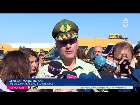 Ministerio de Transportes realizó fiscalización a furgones escolares- CHV NOTICIAS