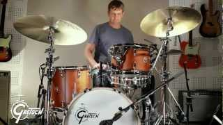 "Gretsch Drums - Brooklyn Usa Jazz 18"" Satin Mahogany & Keith Carlock"