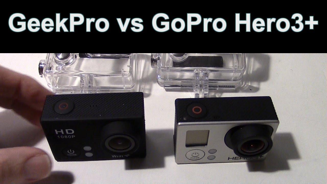 Geekpro Camera Review : Geekpro wifi action camera vs gopro hero silver edition