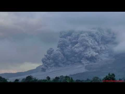 Pyroclastic Flow followed by series of Tornados, Sinabung Volcano