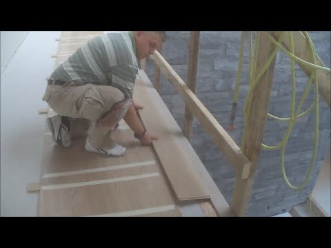Laying Wood Flooring In A Hallway That Has Doorways Both Sides How