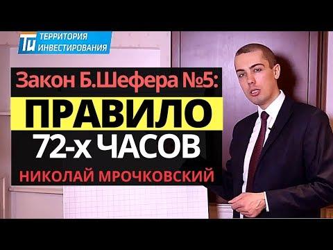 Правило 72 часов: Закон успеха - Закон финансового успеха №5 Бодо Шефера от Николая Мрочковского