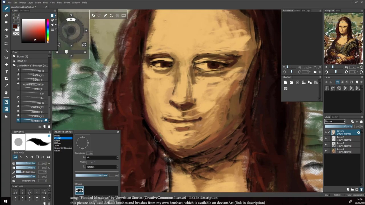 openCanvas 7 beta 50 minute painting timelapse - YouTube