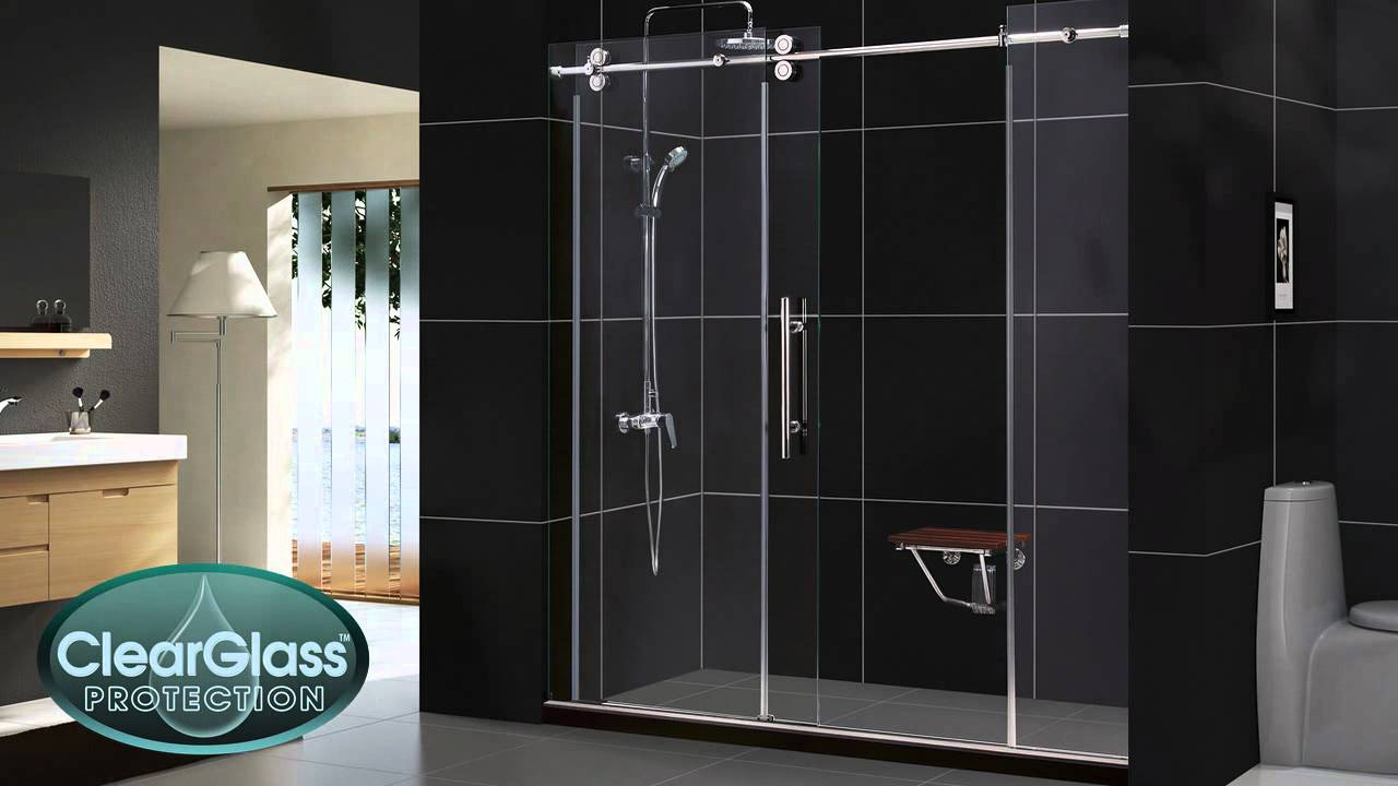 Shower door dreamline bathroom shower doors frameless glass shower - Enigma Shower Doors And Enigma Shower Enclosures By Dreamline Youtube