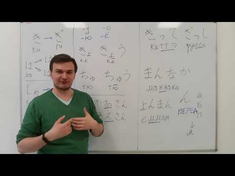 Японский язык. Азбука Хирагана. Урок 11. Правила чтения и повторение