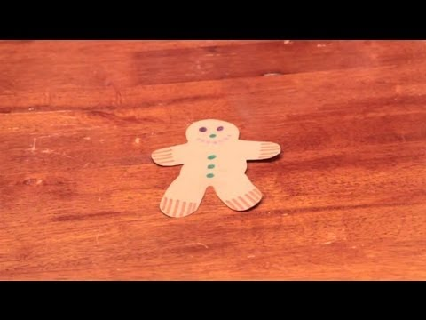 How To Decorate A Paper Gingerbread Man Without Using Glue