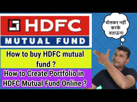 How To Buy HDFC Mutual Fund / How To Create Portfolio In HDFC Online | In Hindi