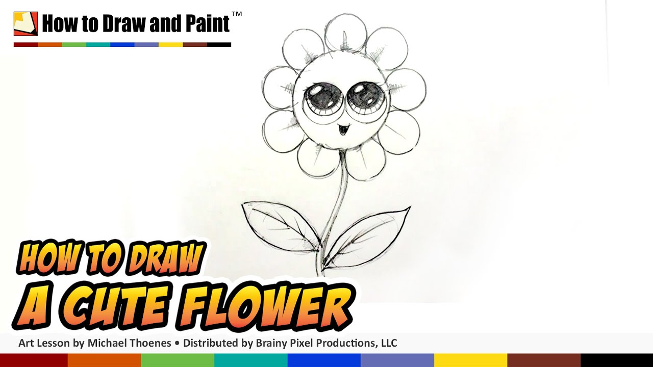 How to draw a cute flower art lessons for kids bp youtube geenschuldenfo Choice Image
