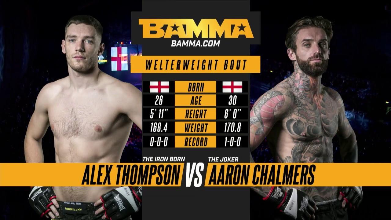 BAMMA 31: Alex Thompson vs Aar...