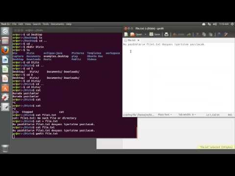 Temel Linux Komutlari - Genel Terminal Kullanımı