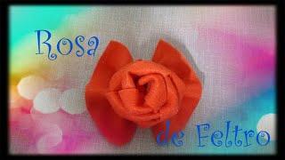 Rosa de Feltro - Passo a Passo #3