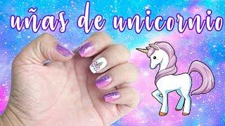 UÑAS UNICORNIO! decoración de uñas Lorena G ♥