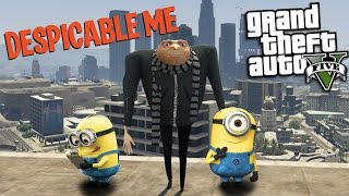 GTA 5 Mods - DESPICABLE ME MOD w/ GRU & MINION (GTA 5 Mods Gameplay)