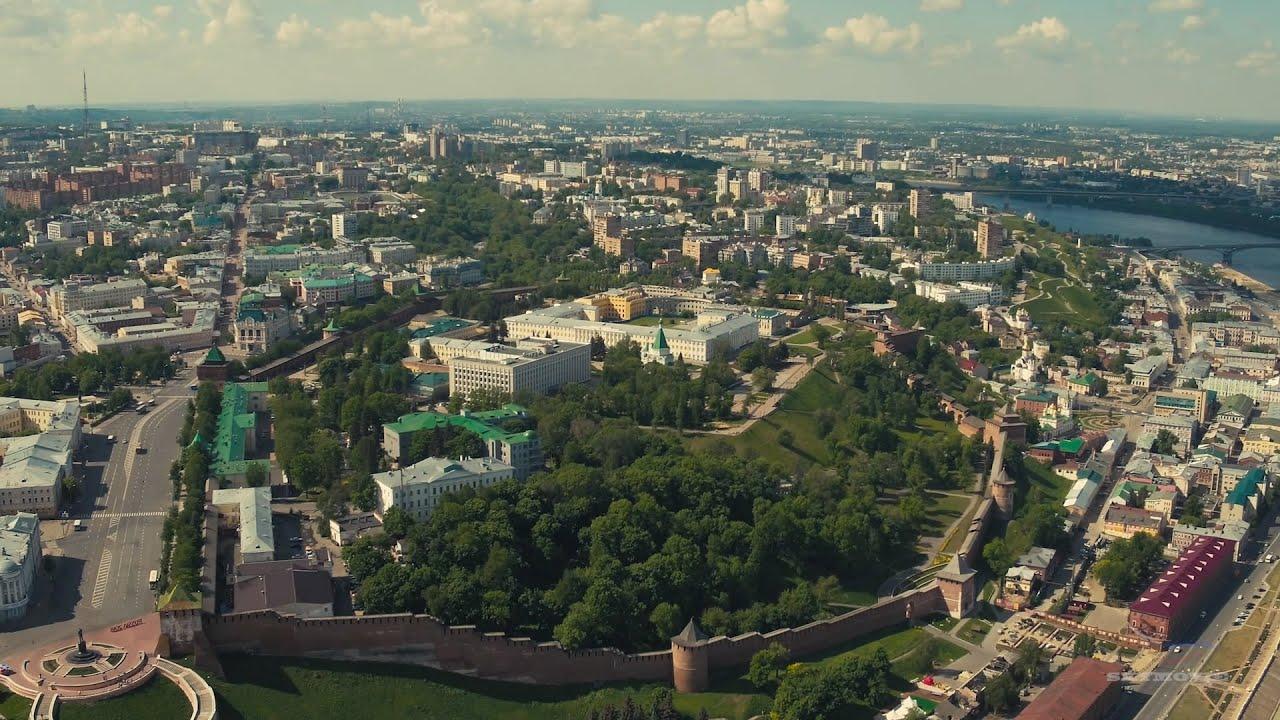 Нижний Новгород. Верхняя (нагорная) часть, аэросъемка ...