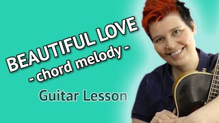 Beautiful Love - easy chord melody jazz guitar lesson