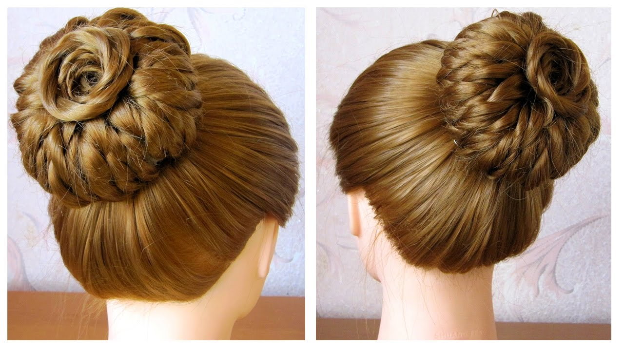 tuto coiffure simple chignon bun tresse oiffure facile a faire soi meme youtube. Black Bedroom Furniture Sets. Home Design Ideas