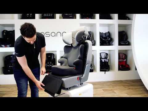 Защитная накладка для автомобильного сиденья с подножкой FeetUp. Видео №1