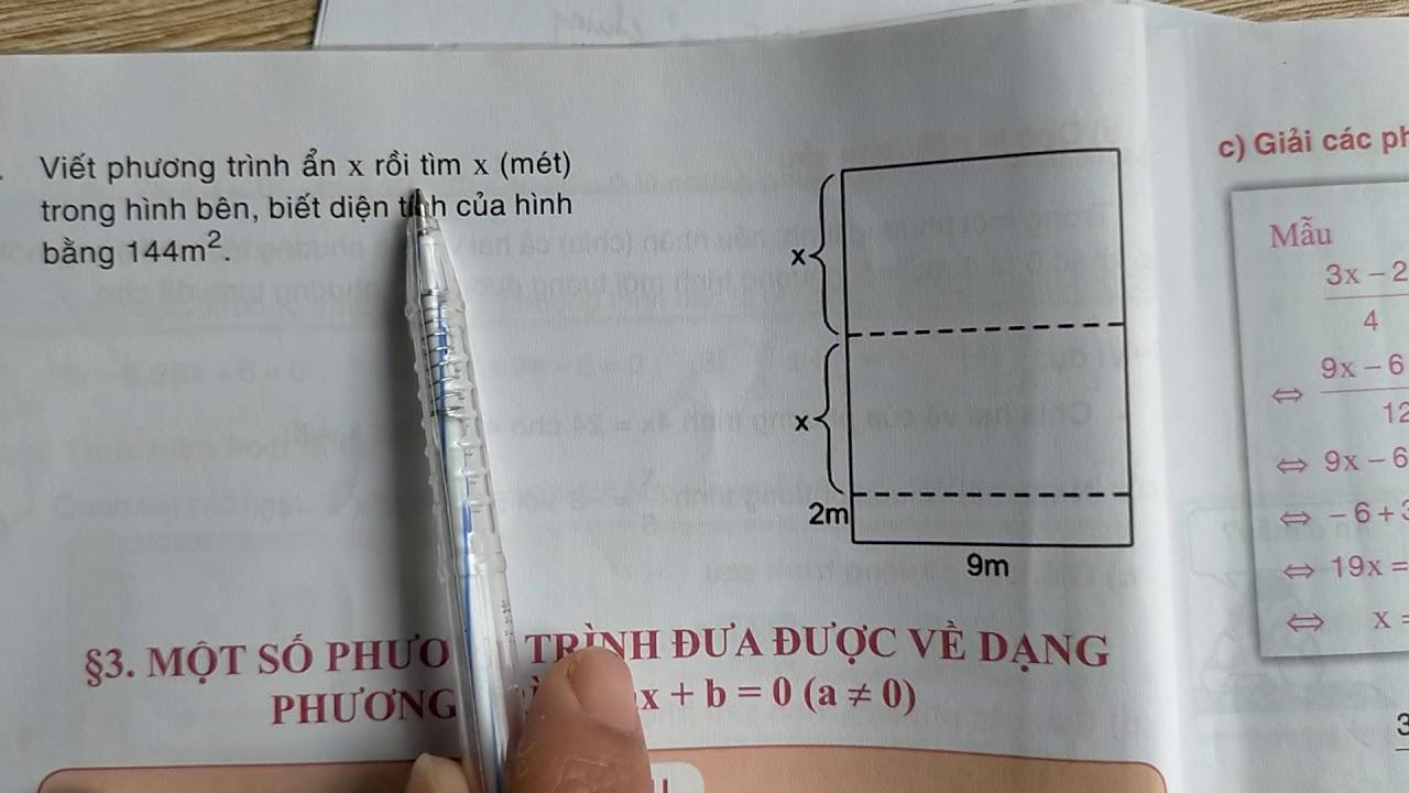 TOÁN 8. ĐẠI SỐ: PHƯƠNG TRÌNH QUY VỀ PHƯƠNG TRÌNH ax+b=0.