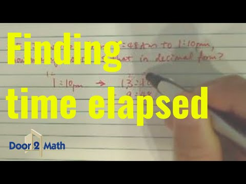 How to calculate time elapsed - YouTube
