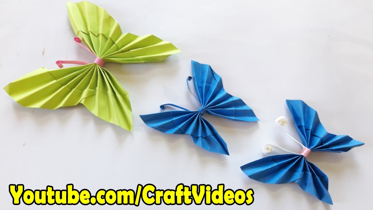 Easy Origami Butterfly Mobile