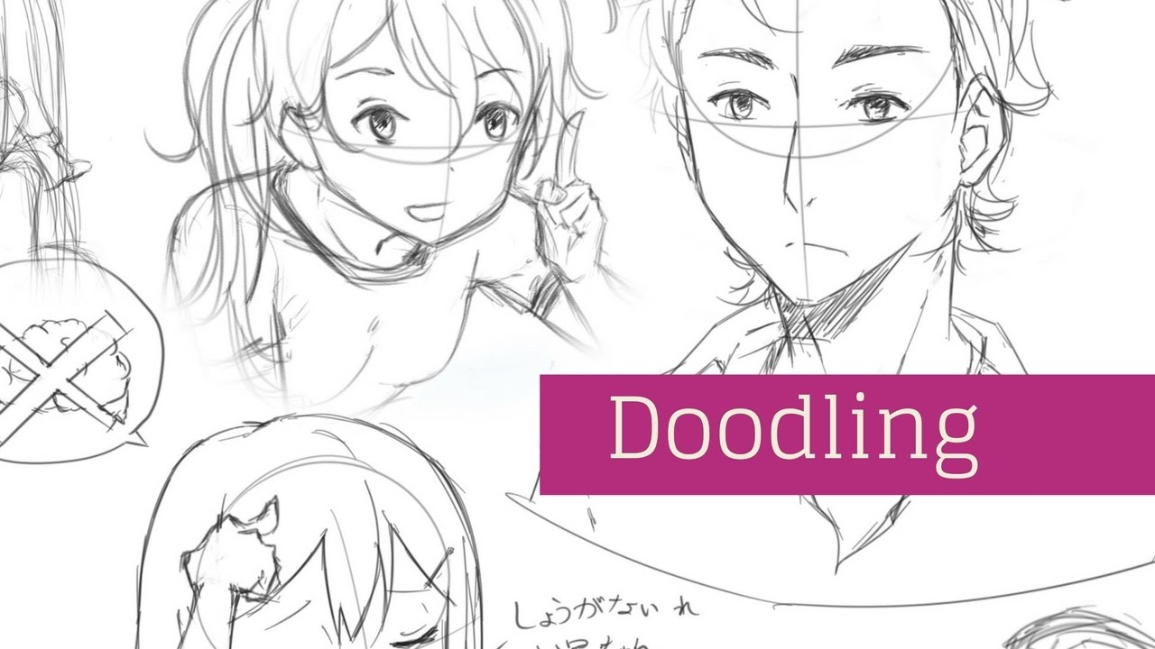 Visual tutorial drawing and doodling different manga anime people clip studio paint